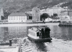 September 30th, 1961. Wedding party crossing Vågen.